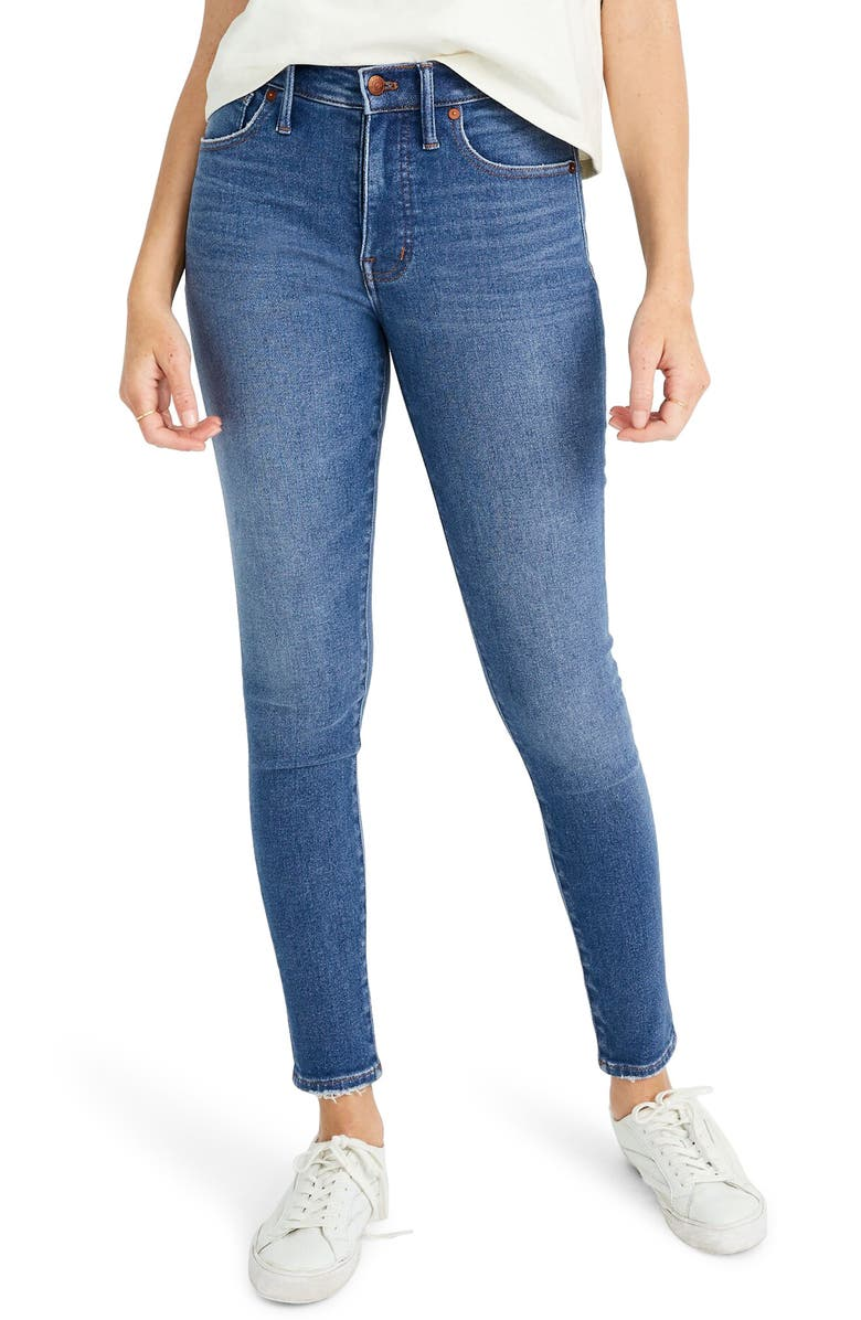 MADEWELL Mid Rise Skinny Jeans, Main, color, 400