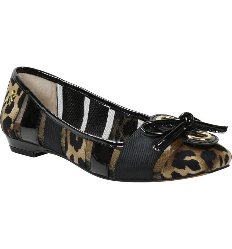 J. RENEÉ 'Edie' Skimmer Flat, Main, color, ANIMAL PRINT FABRIC