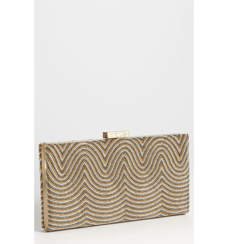 SONDRA ROBERTS Beaded Wave Clutch, Main, color, 049