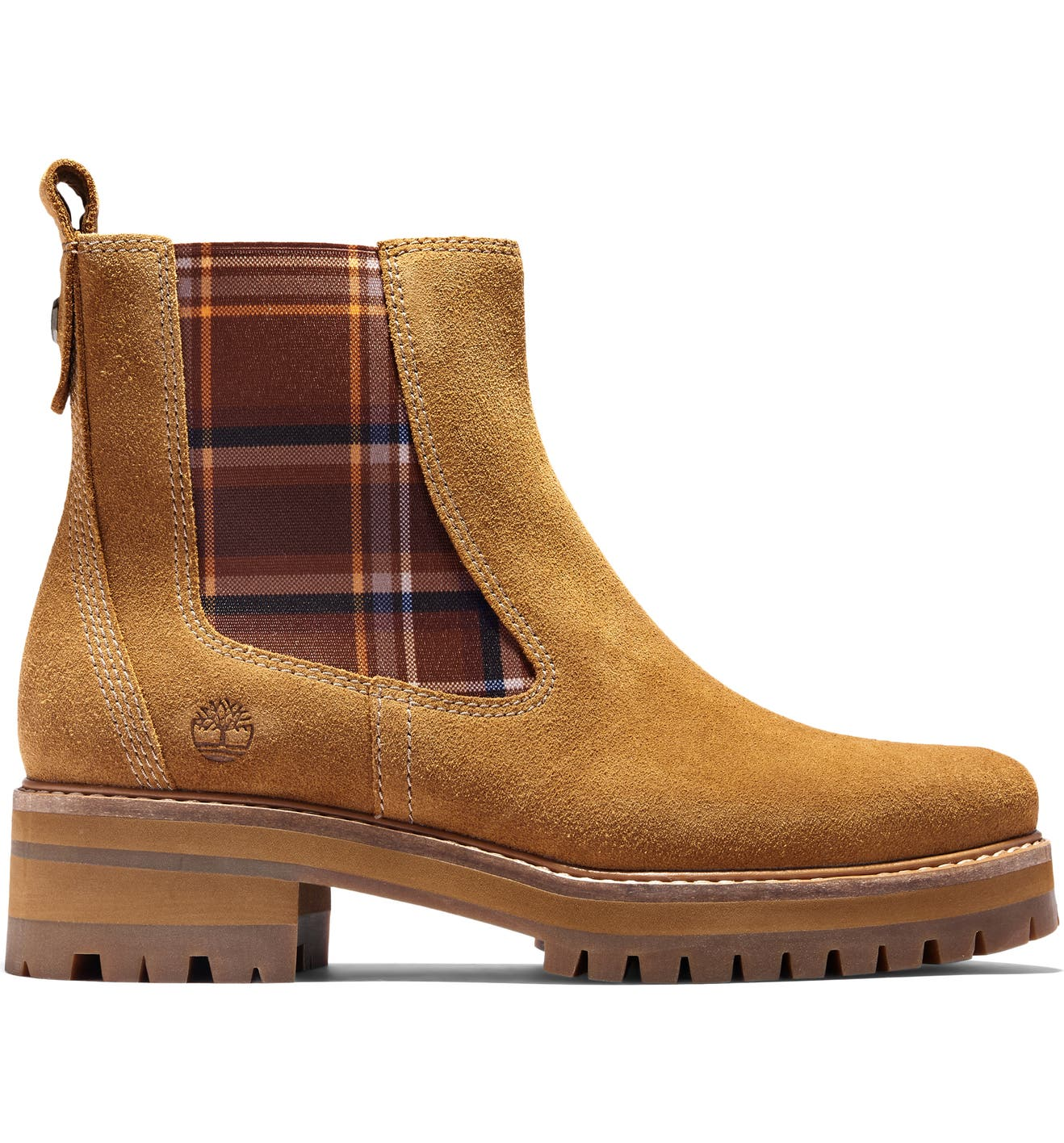 TIMBERLAND Courmayeur Valley Chelsea Boot, Alternate, color, MEDIUM BROWN SUEDE