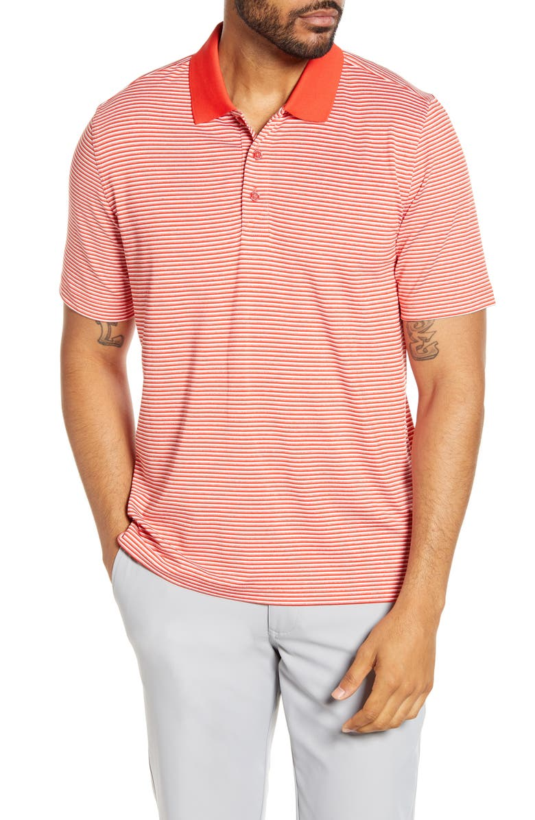 CUTTER & BUCK Forge DryTec Stripe Performance Polo, Main, color, MARS