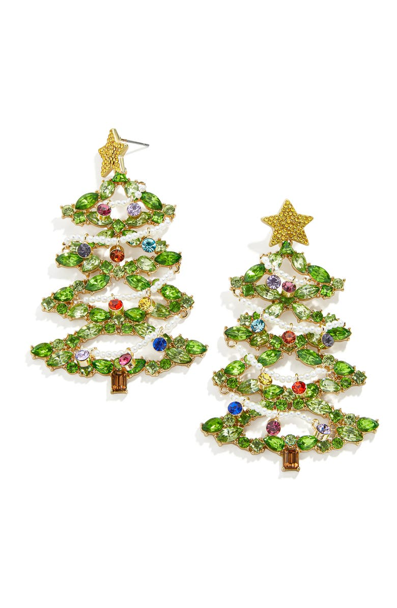 BAUBLEBAR Christmas Tree Deck the Halls Drop Earrings, Main, color, 710