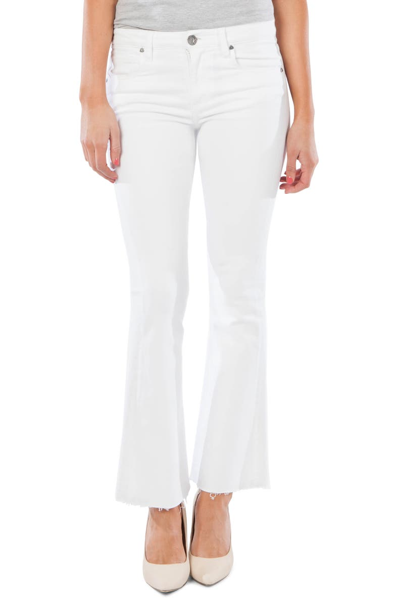 KUT FROM THE KLOTH Stella Fray Hem Flare Jeans, Main, color, 110