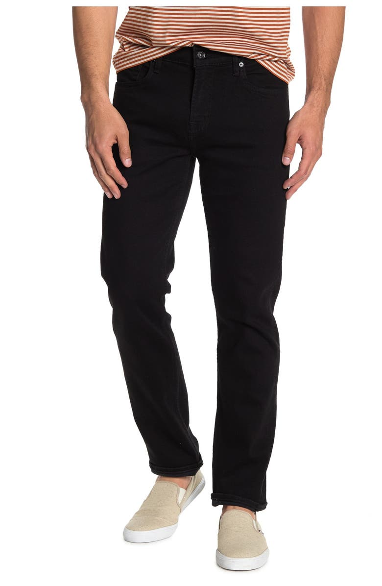 7 FOR ALL MANKIND Slimmy Slim Jeans, Main, color, BLK ONYX