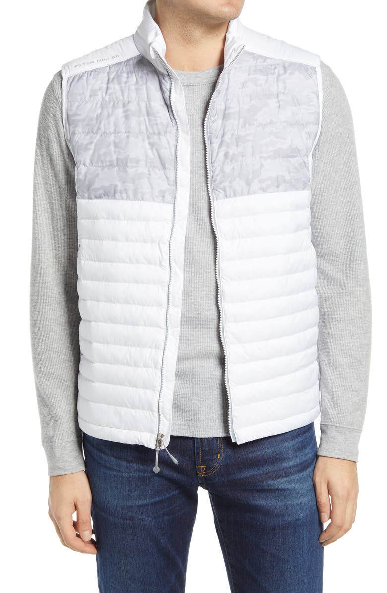 PETER MILLAR Hyperlight Water Resistant Quilted Vest, Main, color, White