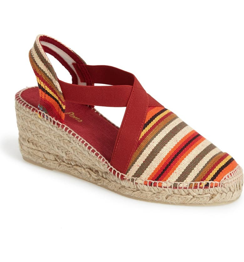 TONI PONS 'Tarbes' Espadrille Wedge Sandal, Main, color, RED MULTI