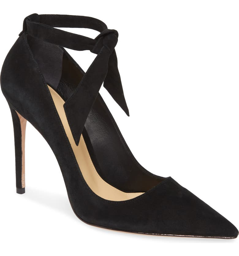 ALEXANDRE BIRMAN New Clarita Pointed Toe Ankle Strap Pump, Main, color, 002