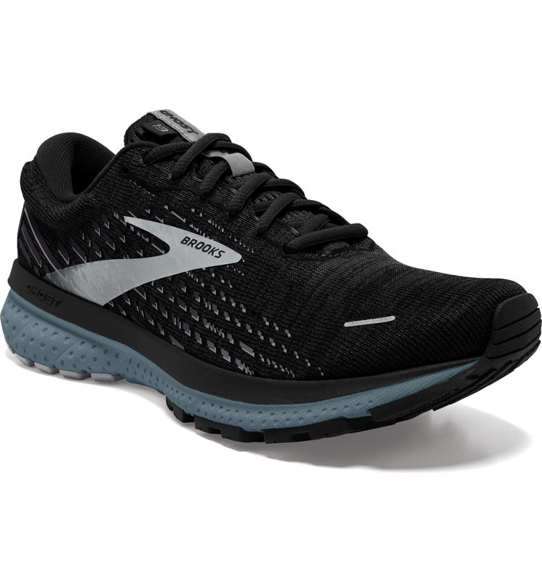 BROOKS Ghost 13 Running Shoe, Main, color, BLACK/ GREY/ STORMY