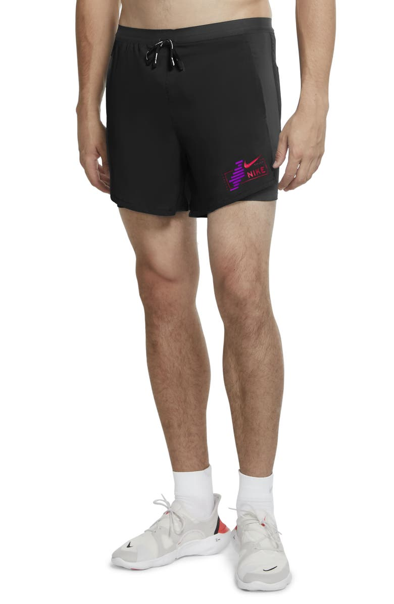 NIKE Flex Stride Future Fast 2-in-1 Running Shorts, Main, color, BLACK/ REFLECTIVE