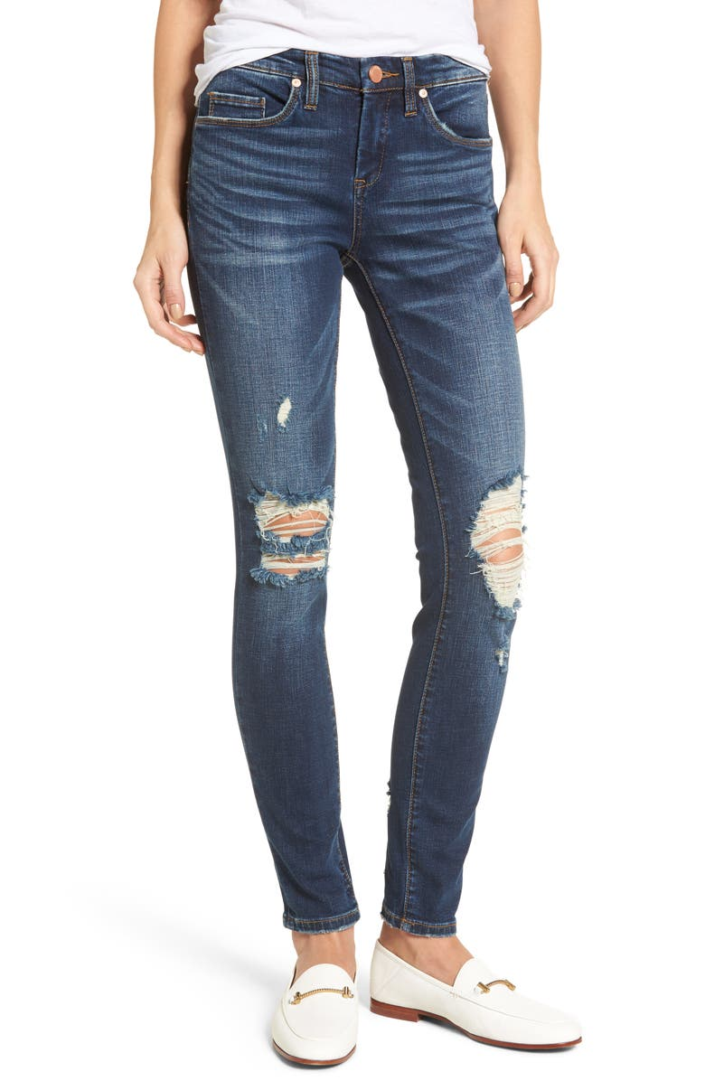 BLANKNYC Decon Cult Classic Skinny Jeans, Main, color, CUT CLASSIC BLUE