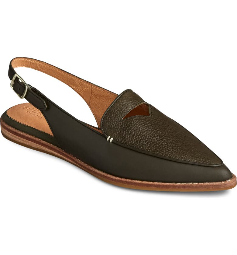 SPERRY Saybrook Slingback Mule, Main, color, OLIVE TUMBLED LEATHER