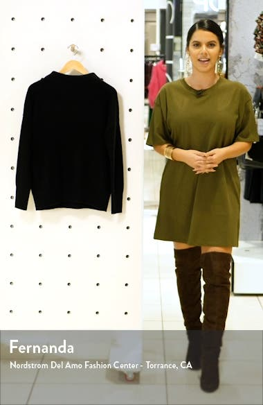 Boiled Cashmere Funnel Neck Pullover, sales video thumbnail