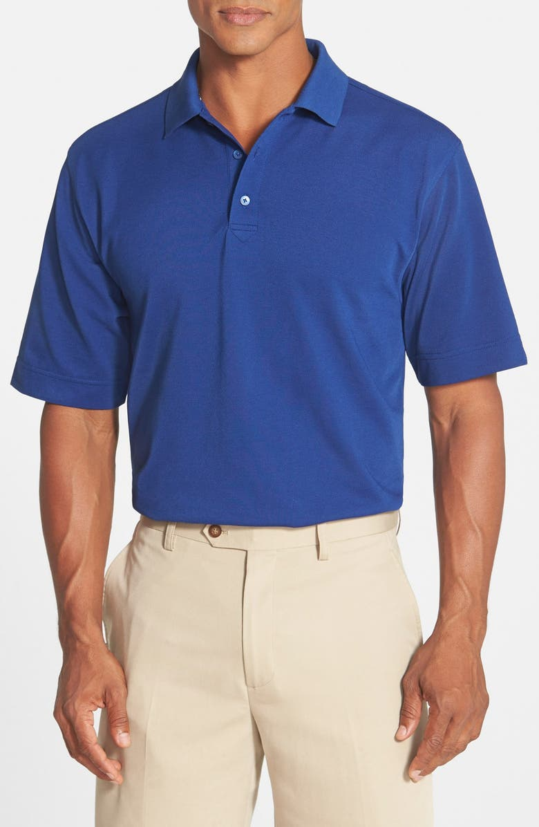 CUTTER & BUCK Championship Classic Fit DryTec Golf Polo, Main, color, TOUR BLUE