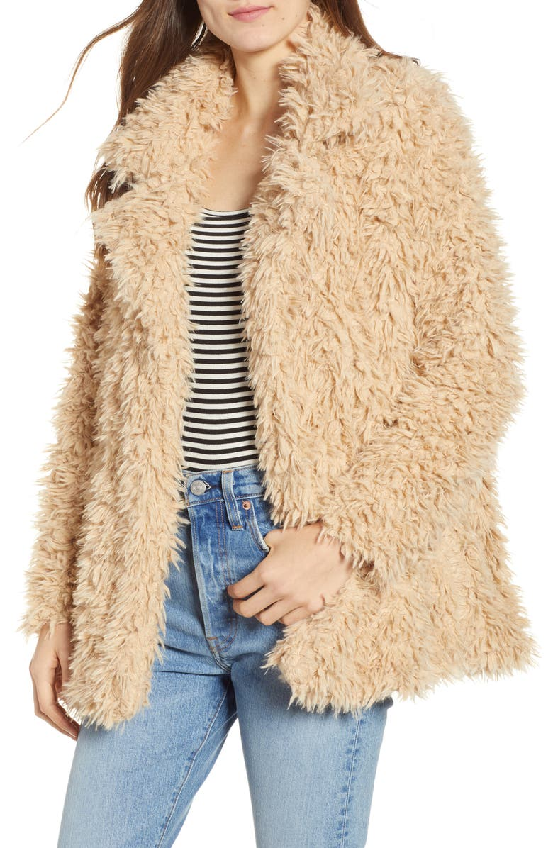 THREAD & SUPPLY Sully Faux Shearling Jacket, Main, color, 200
