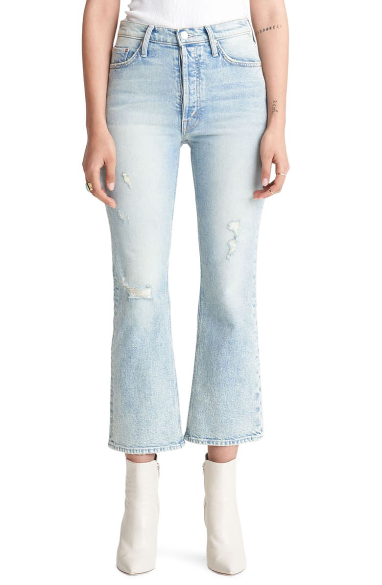 MOTHER The Tripper Crop Bootcut Jeans, Main, color, SKATING ON THIN ICE