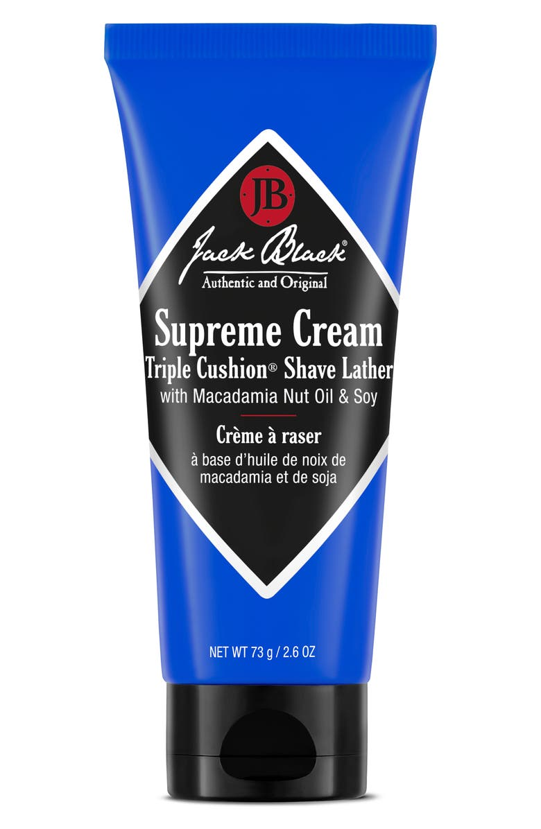 JACK BLACK Travel Size Supreme Cream<sup>™</sup> Triple Cushion<sup>™</sup> Shave Lather, Main, color, No Color