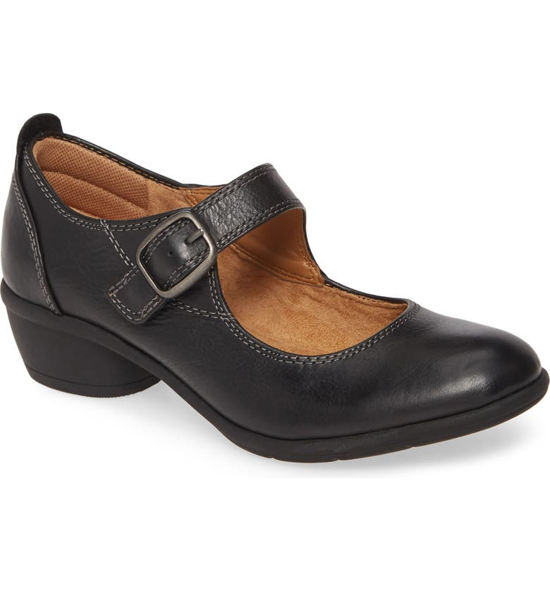 COMFORTIVA Quanita Mary Jane Pump, Main, color, BLACK LEATHER