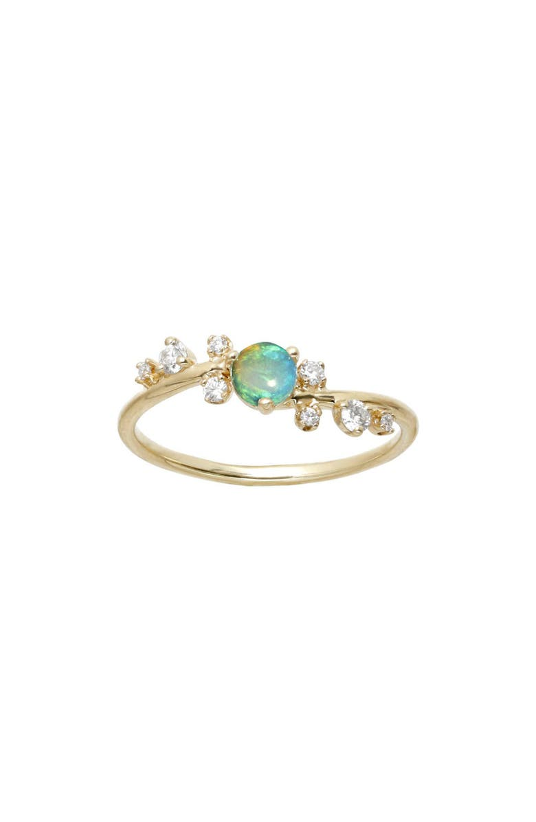 WWAKE Botany Collection Crossover Opal & Diamond Ring, Main, color, 710