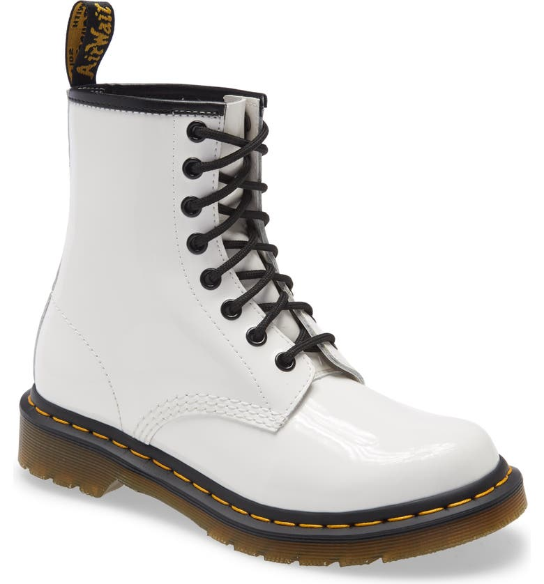 DR. MARTENS '1460 W' Boot, Main, color, WHITE