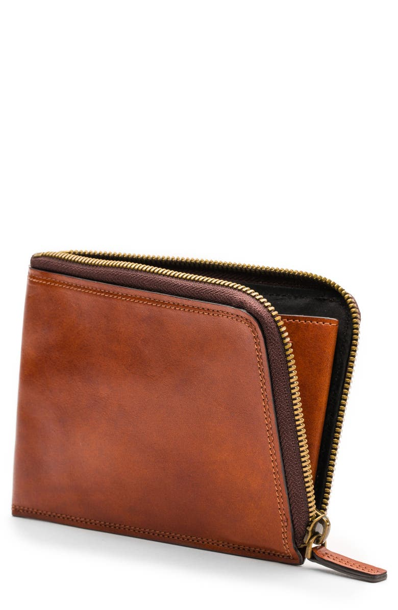 BOSCA Dolce Leather Passport Case, Main, color, AMBER