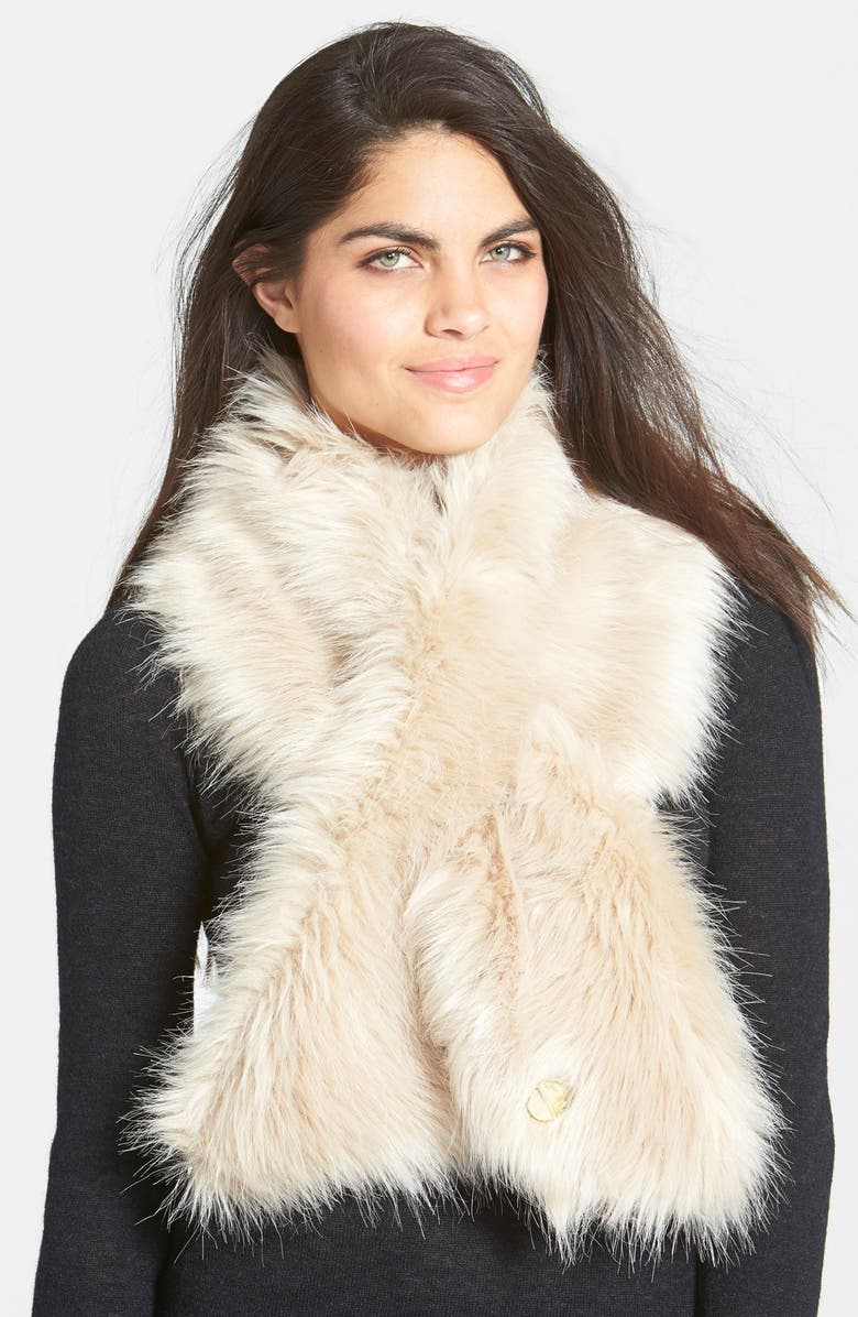 TED BAKER LONDON Faux Fur Scarf, Main, color, 250