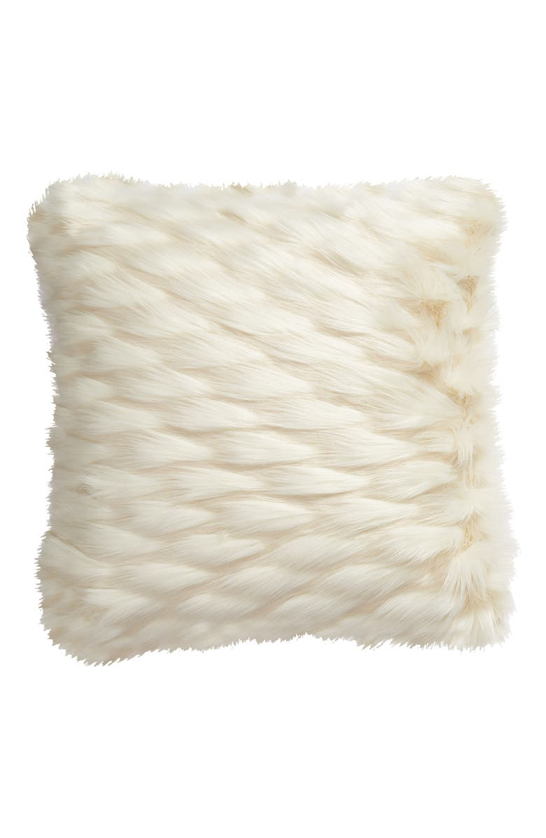 RACHEL PARCELL Statement Faux Fur Throw Pillow, Main, color, 900