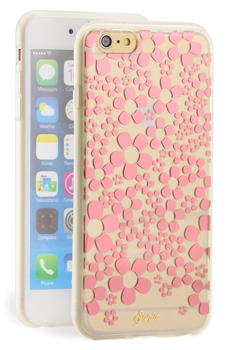 SONIX 'Hello Daisy' iPhone 6 Plus Case, Main, color, CLEAR/ ROSEGOLD