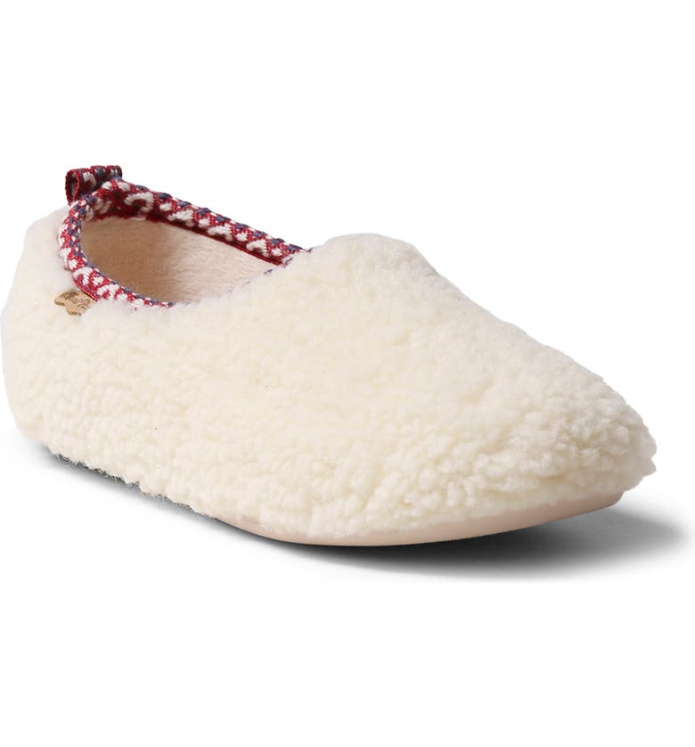 TONI PONS Marta Fleece Slipper, Main, color, WHITE WOOL