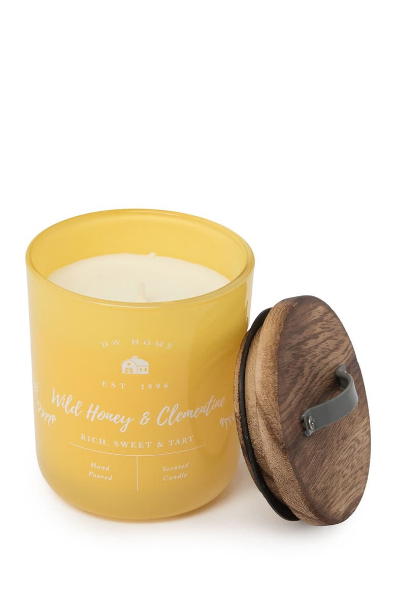 DW HOME Farmhouse Yellow Wild Honey & Clementine Candle - 9 oz., Main, color, YELLOW