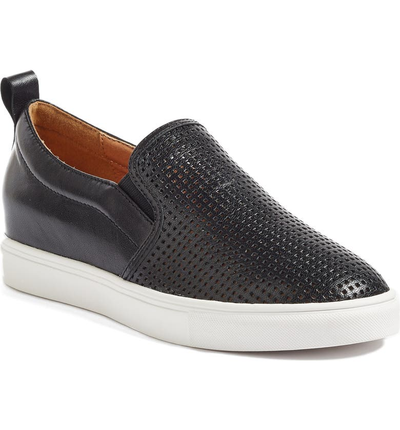 CASLON<SUP>®</SUP> Eden Perforated Slip-On Sneaker, Main, color, 001