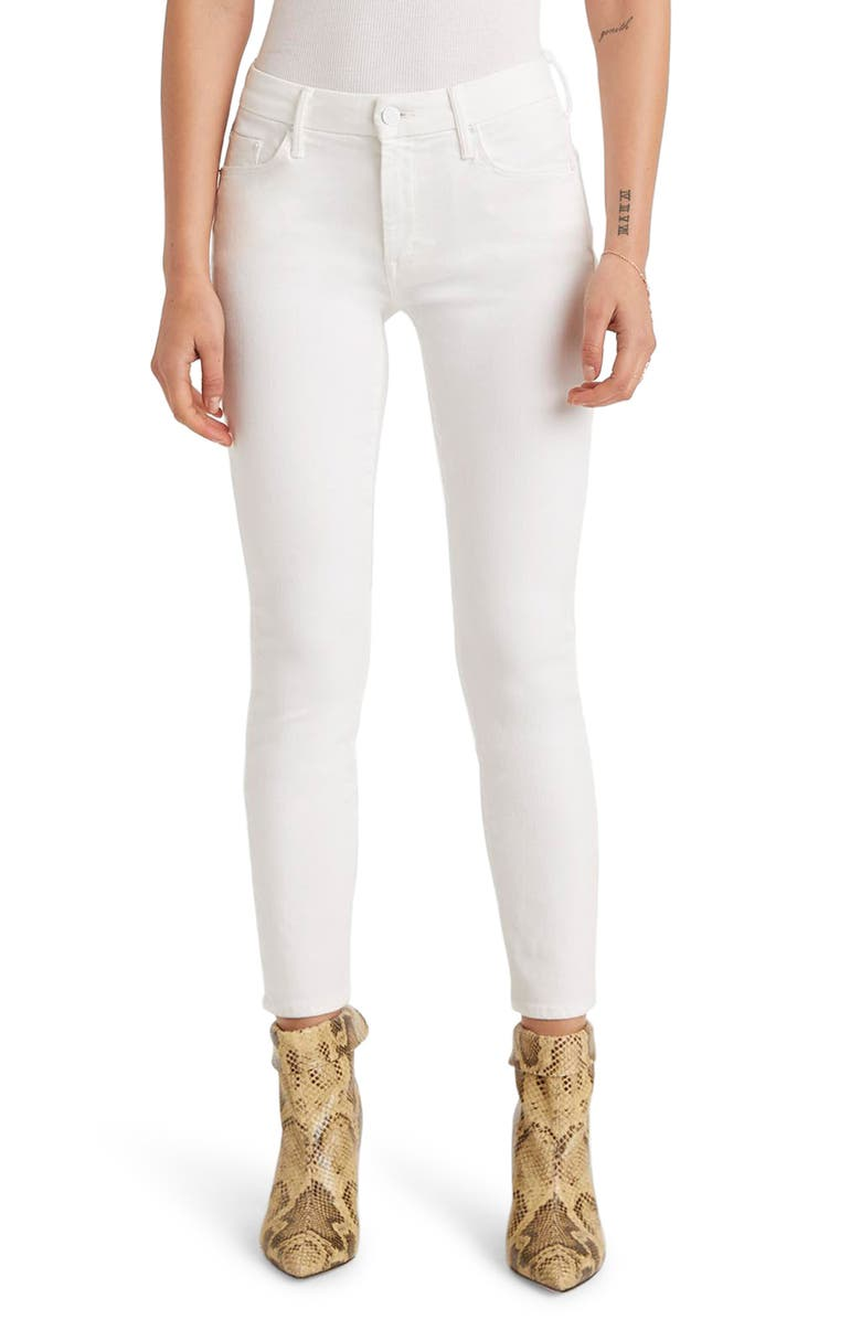 MOTHER The Looker Crop Skinny Jeans, Main, color, 100