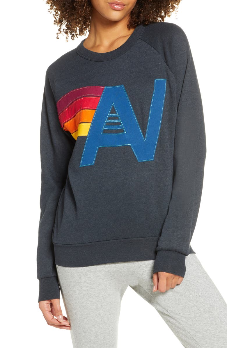 AVIATOR NATION Logo Stitch Sweatshirt, Main, color, 020