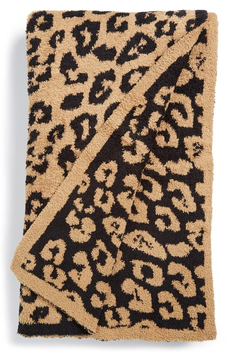 BAREFOOT DREAMS<SUP>®</SUP> In the Wild Throw Blanket, Main, color, MIDNIGHT/ CAMEL