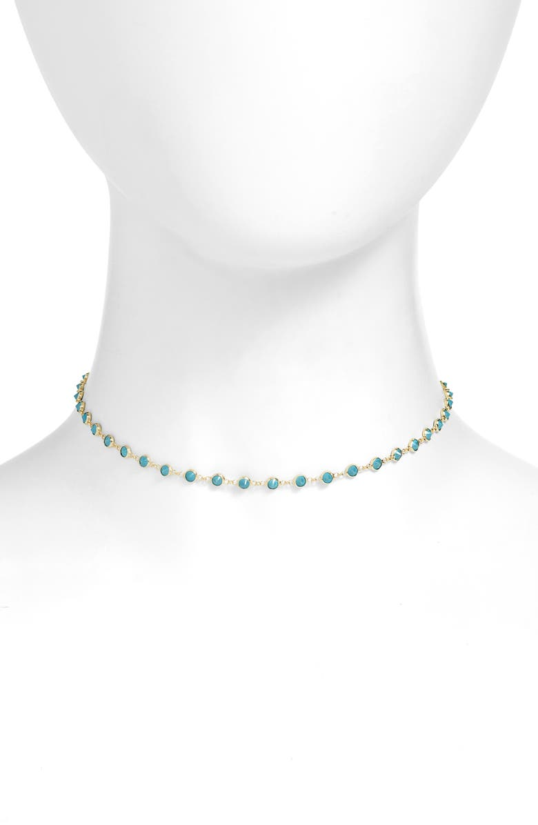 ADINA'S JEWELS Adina's Jewels Synthetic Turquoise Choker Necklace, Main, color, 710