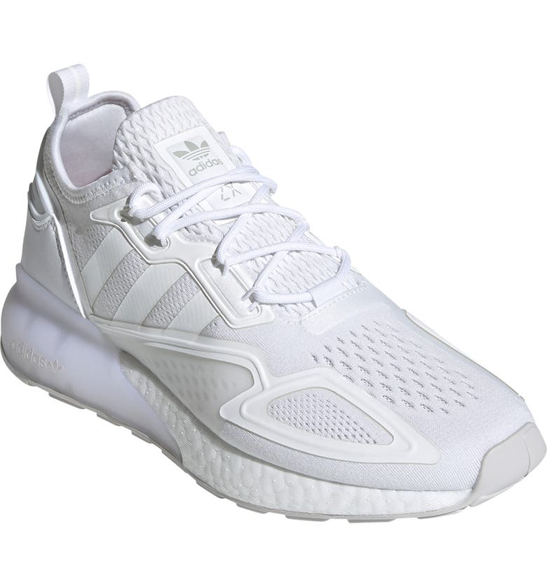 ADIDAS ZX 1K Boost Sneaker, Main, color, WHITE/ WHITE/ GREY