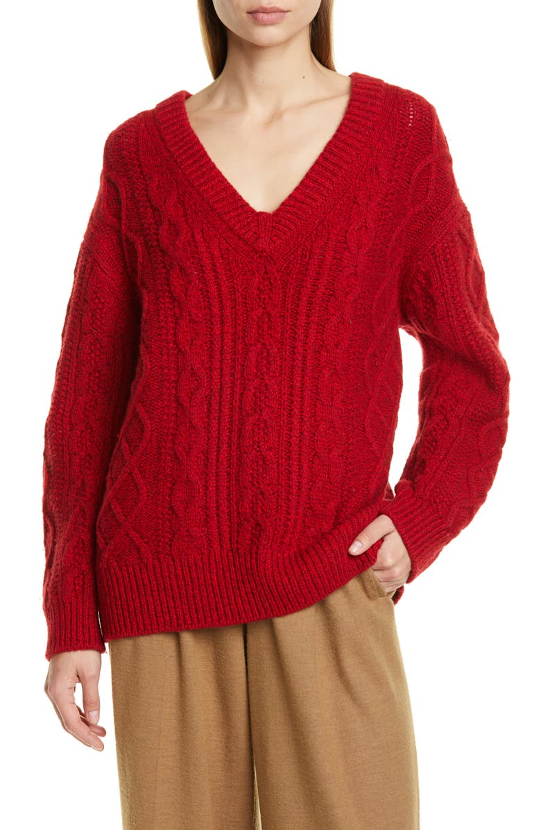 VINCE Cable Merino Wool & Cashmere Blend Sweater, Main, color, 642