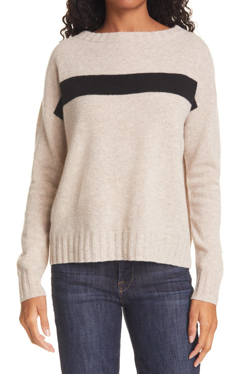 ATM ANTHONY THOMAS MELILLO Wool & Cashmere Sweater, Main, color, DESERT HEATHER COMBO