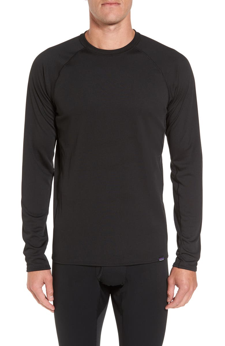 PATAGONIA Capilene Midweight Base Layer T-Shirt, Main, color, Black