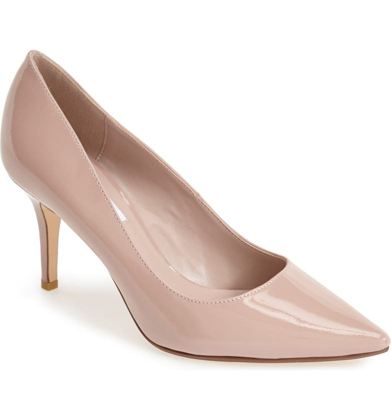 DUNE LONDON 'Alina' Pointy Toe Pump, Main, color, BEIGE PATENT