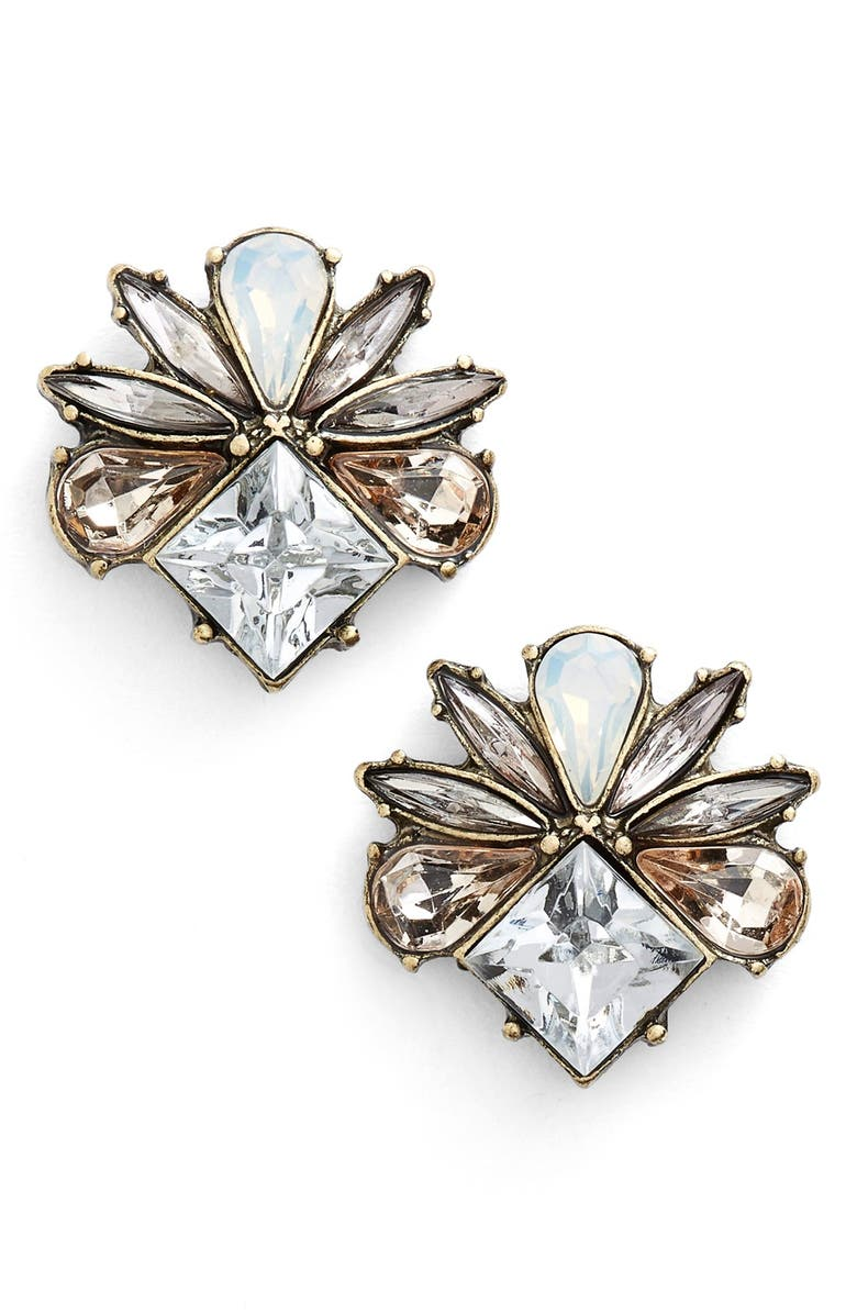 BAUBLEBAR 'Tundra' Stud Earrings, Main, color, ANTIQUE GOLD