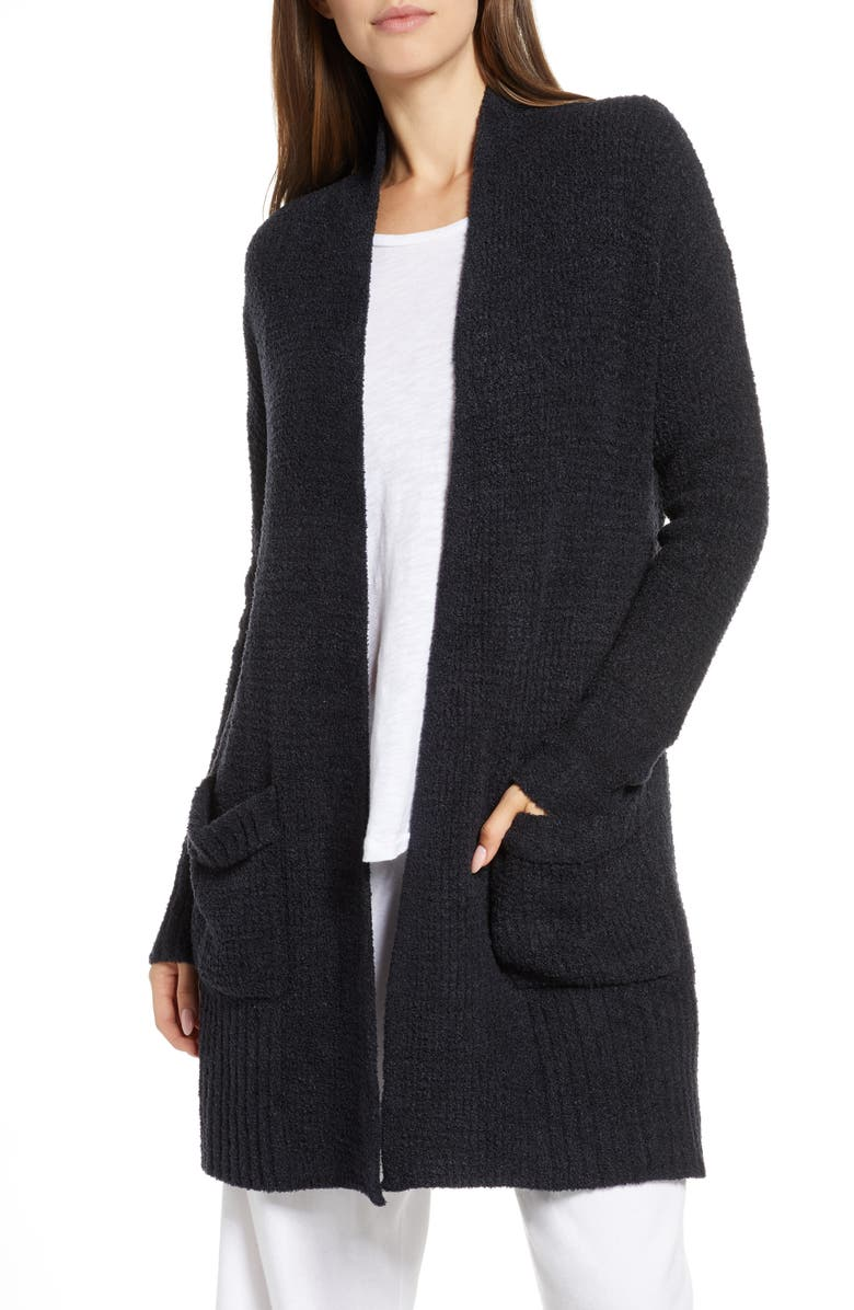 BAREFOOT DREAMS<SUP>®</SUP> CozyChic<sup>®</sup> Lite Long Weekend Cardigan, Main, color, BLACK