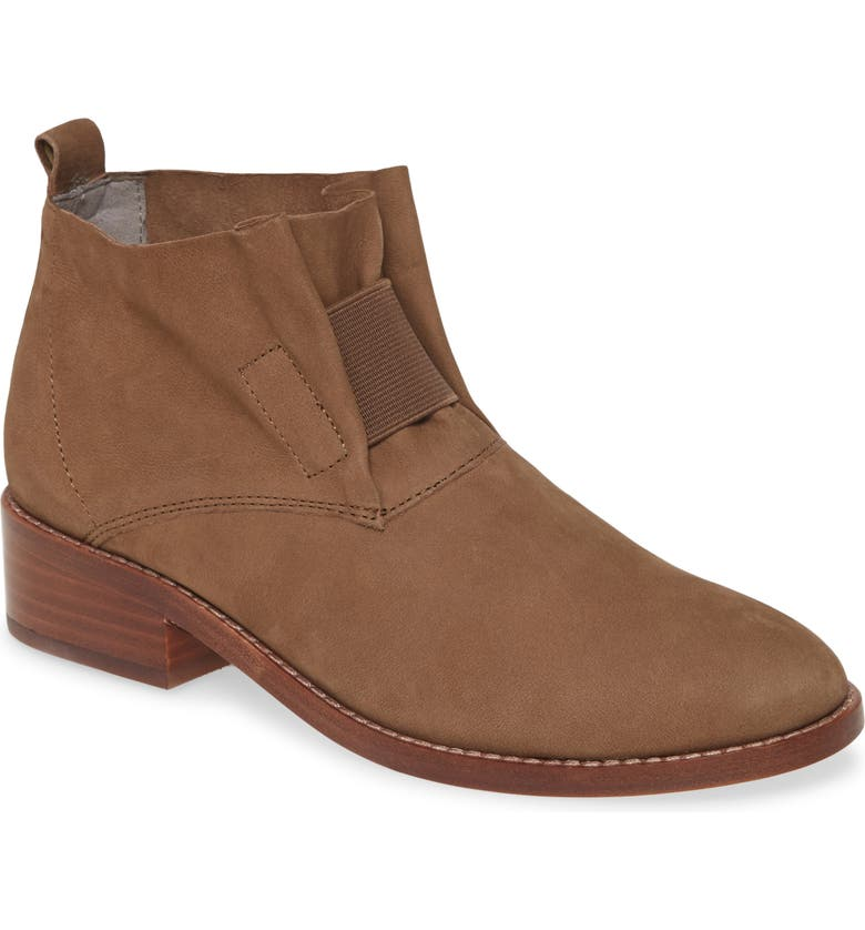 EILEEN FISHER 'Soul' Gathered Leather Bootie, Main, color, 248