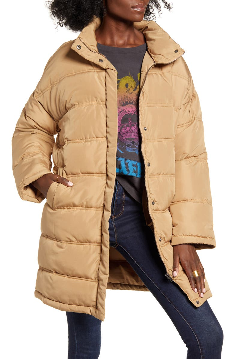 THREAD AND SUPPLY Long Puffer Jacket, Main, color, 200