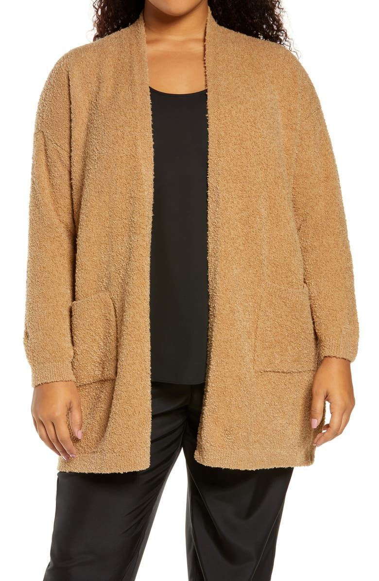 EILEEN FISHER Organic Cotton Blend Straight Cardigan, Main, color, 200