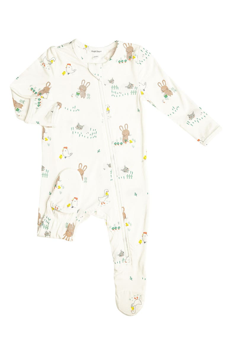 ANGEL DEAR Little Farmer Footie, Main, color, WHITE