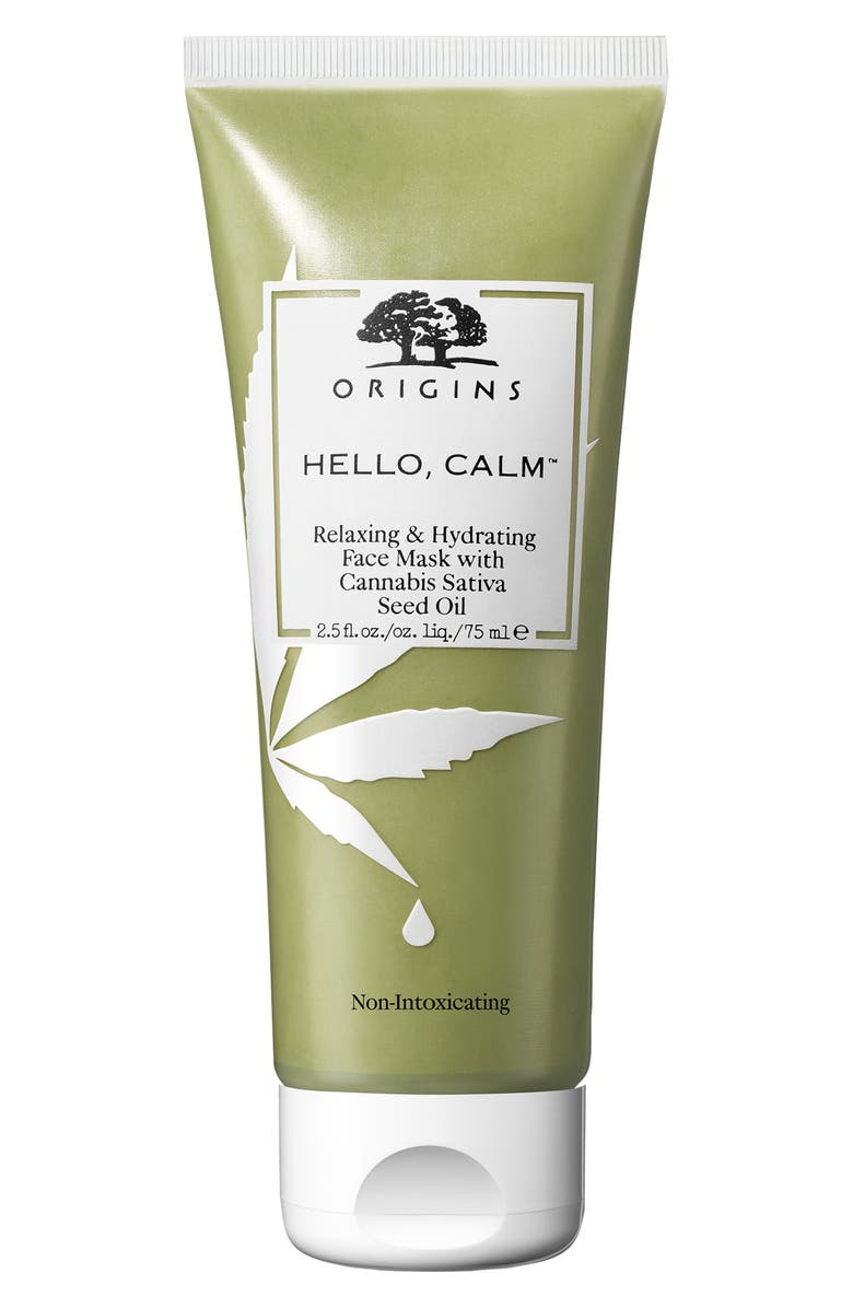 ORIGINS Hello, Calm<sup>™</sup> Relaxing & Hydrating Face Mask with Cannabis Sativa Seed Oil, Main, color, 000