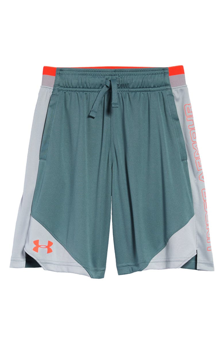UNDER ARMOUR Stunt 2 Shorts, Main, color, LICHEN BLUE/ MOD GRAY