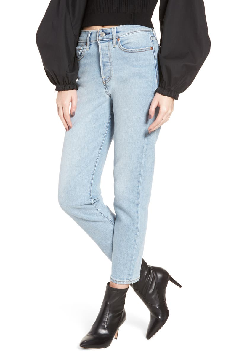 LEVI'S<SUP>®</SUP> Wedgie Icon Fit High Waist Crop Jeans, Main, color, 420
