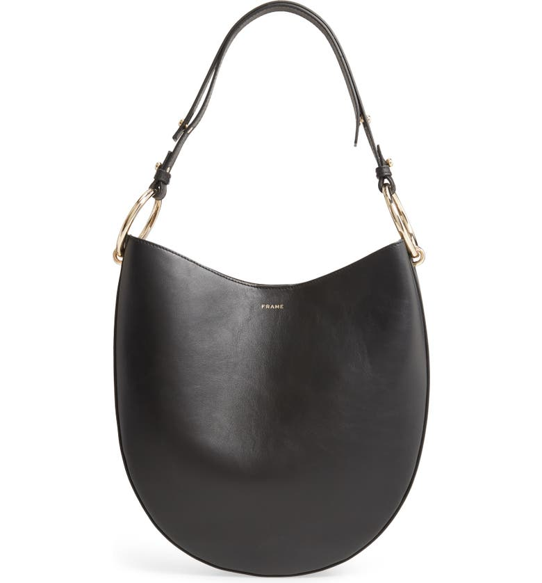 FRAME Le Switch Leather Hobo Bag, Main, color, 001