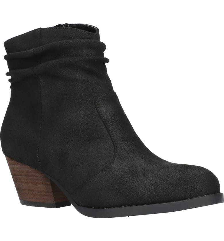 BELLA VITA Helena Bootie, Main, color, BLACK FAUX LEATHER